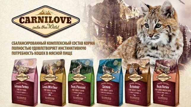 Сухой корм Carnilove Cat для кота/кошки, котят, для стерилизованных