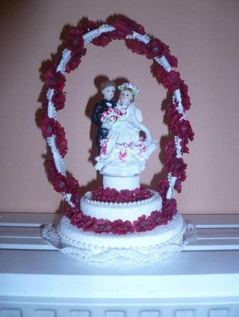 Dekoracja na tort weselny