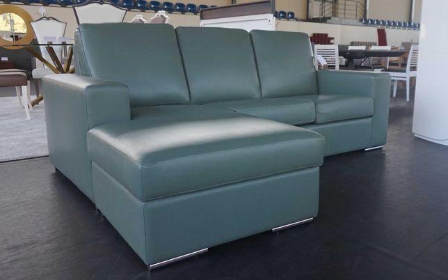 Sofá chaise longue em pele - novo