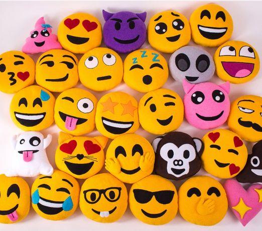 Пухнасті подушки смайли 25 та 35 см. Іграшка - смайлик Emoji.