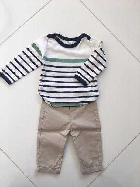 Komplet niemowlęcy H&M r. 62 mały chłopczyk