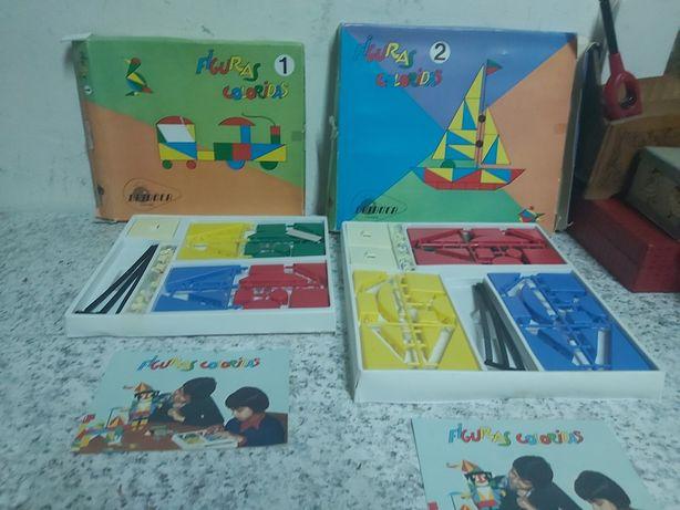 Jogos de construção figuras coloridas