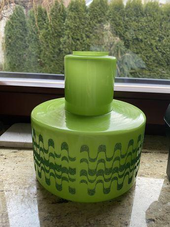 Klosz lampa zielony lata 40