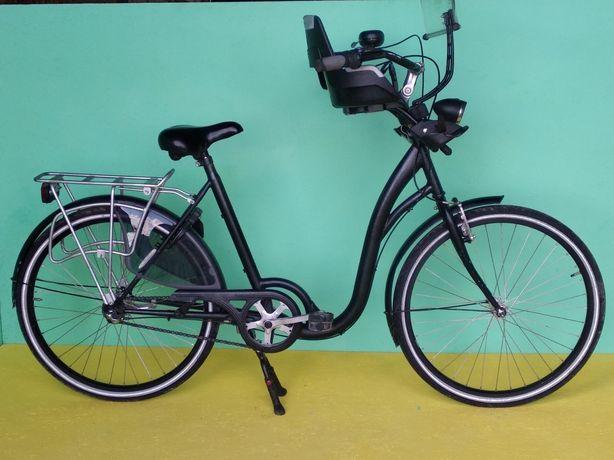 Дамський велосипед із дитячим сидінням