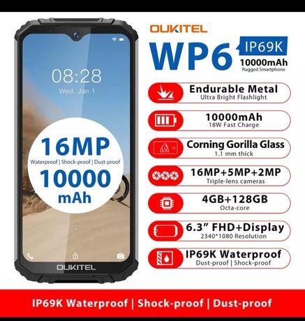 Oukitel WP6 4gb-ram 128gb-rom resistente à prova de água novos C/garan