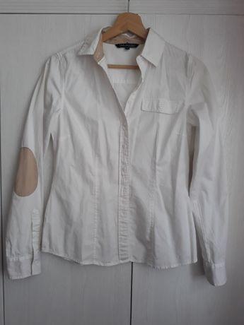 Biała koszula z naszywkami na łokciach Top Secret, r. 34