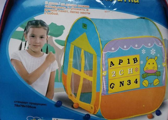 Велика палатка дитяча 78*78*105