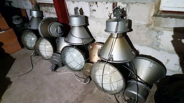 Lampa loft przemysłowa industrialna metalowa ogromna PRL pub hala bar