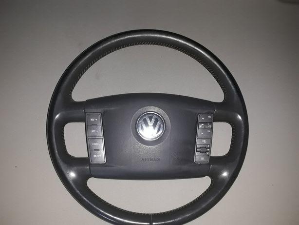 Kierownica vw phaeton airbag kompletna skórzana