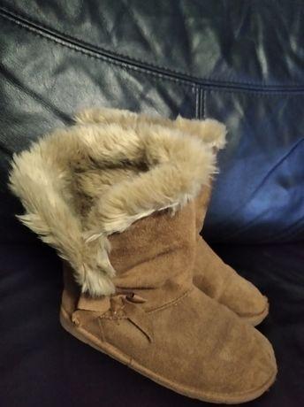 Buty kozaki zimowe dla dziewczynki rozm 33