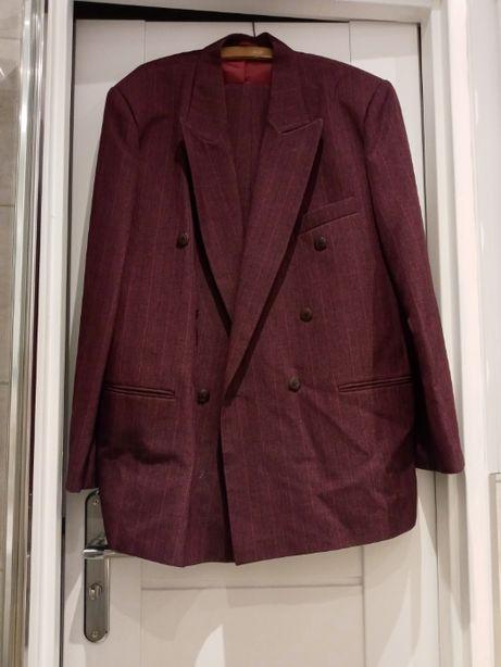 Bordowy garnitur - Jak nowy !