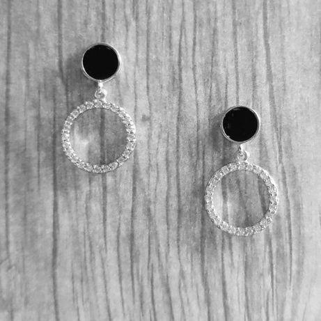Сережки серебро 925° с эмалью
