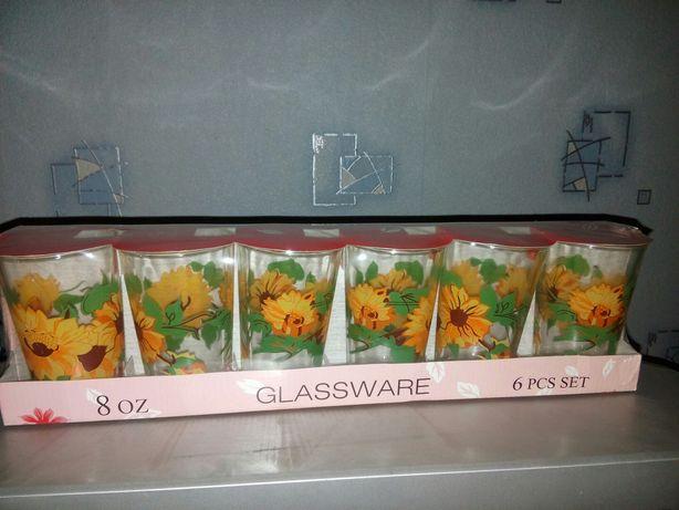 Набор новых стаканов 6 штук