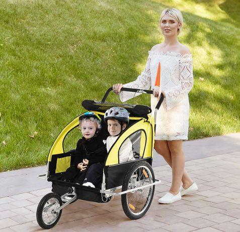 Nowa Przyczepka rowerowa dla 2 dzieci
