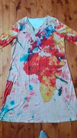 Sukienka z mapą XXL
