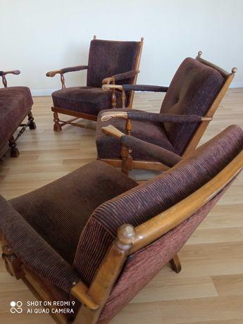Zestaw wypoczynkowy sofa + 3 fotele