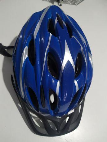 Niebieski kask rowerowy helmet 48-54 cm