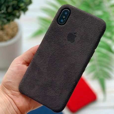 Чехол Алькантара iPhone 6/S/7/8/Plus/X/XR/XS/Max/11/Pro кожаный Айфон