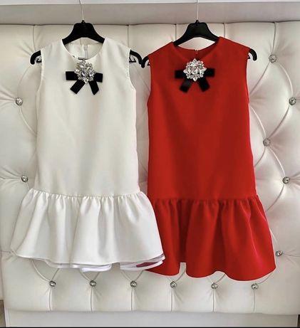 Белое, нарядное платье для девочки
