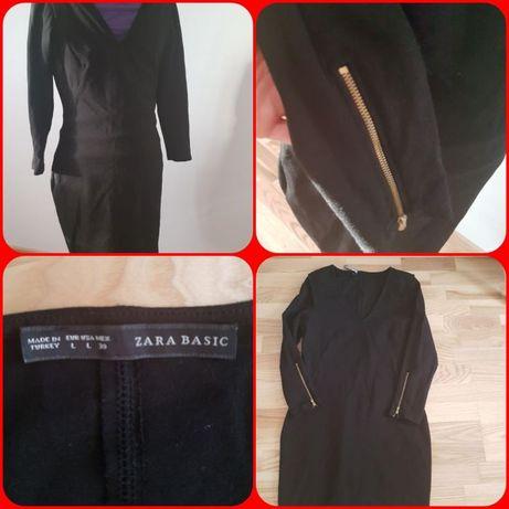 Zara czarna sukienka m/l