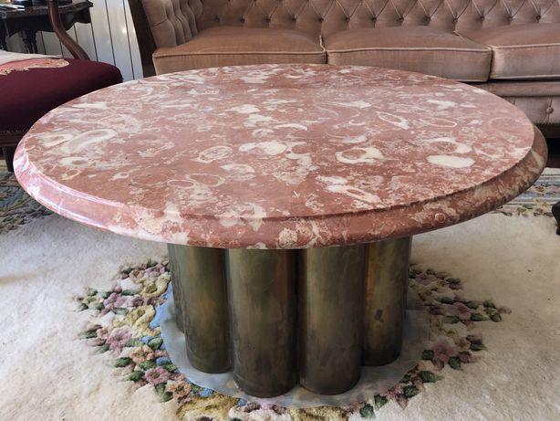mesa marmore rosa