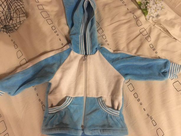 Голубой велюровый костюм на мальчика 62