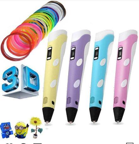 3D ручка! + Пластик! Нарисуй самолет, машинку, куклу lol, Lego, героя