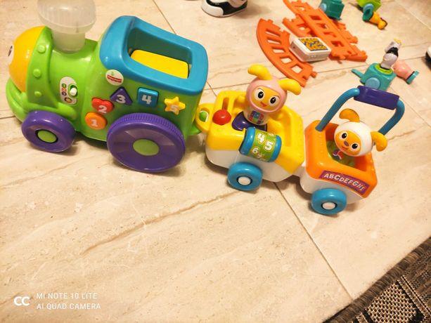 Pociąg kolejka interaktywna zabawka