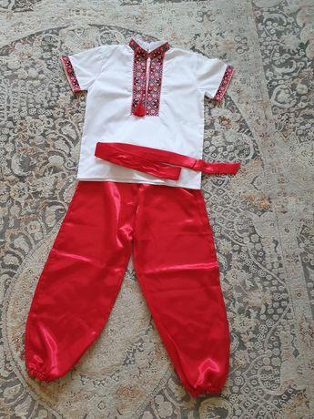 шаровары 134 р красные
