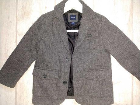 Шерстяной теплый пиджак GAP 4-5 T 104-110-116