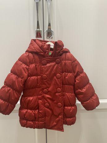 Пуховик пальто детское 1-2 года Benetton