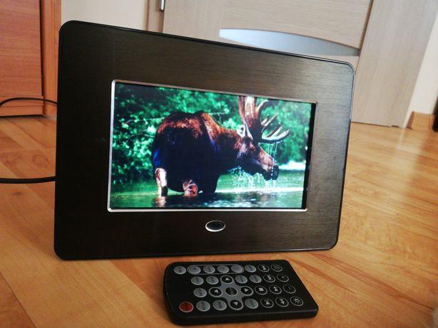 Elektroniczna ramka do zdjęć z pilotem Digital, czarny mat