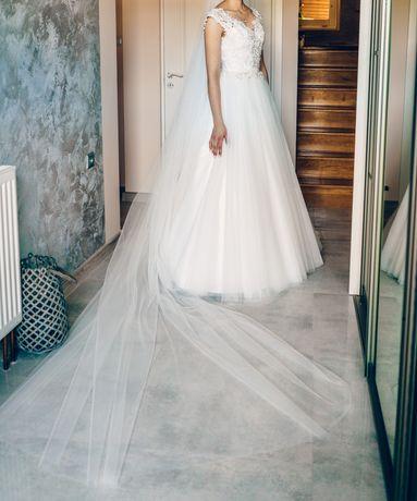 Suknia ślubna w pięknym śmietankowym kolorze!