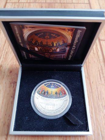 редкая серебряная монета5дол2014годострова Кука чудесная мозаика