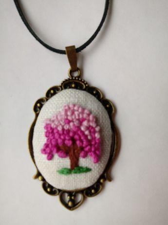 Wisior medalion Drzewko szczęścia