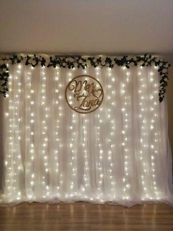 Sprzedam ściankę weselną, kurtynę LED.