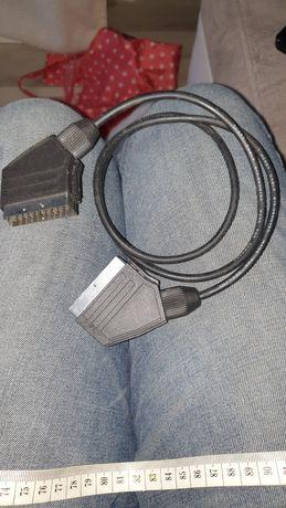 kabel scart 90cm. cienki.produkcja niemcy