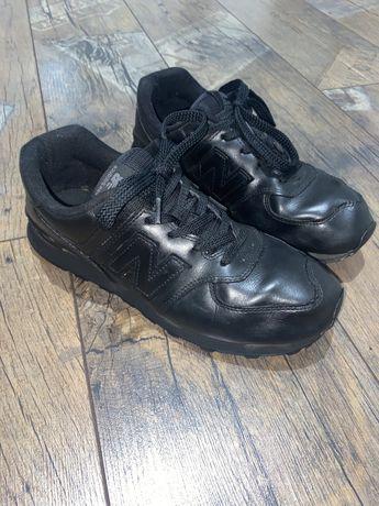 Buty skórzane sneakersy NEW BALANCE 574 czarne