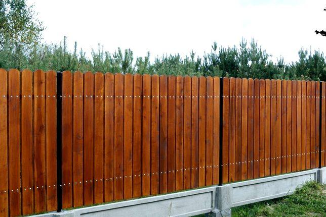 Drewniane SZTACHETY olchowe szlifowane MALOWANE