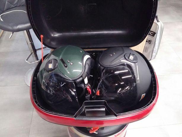 Kufer motocyklowy 43 l ,płyta metalowa w zestawie na motocykl skuter