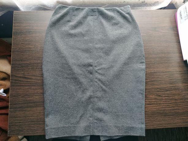 Серая юбка карандаш