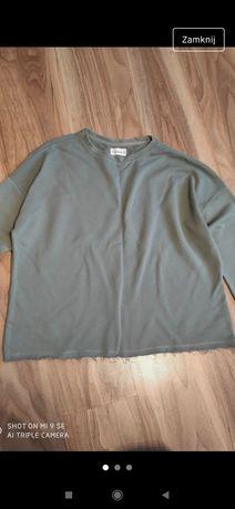 Khaki bluza z długim rękawem