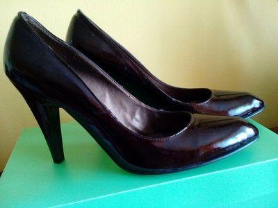 Туфли, Натуральна лакова шкіра. 39