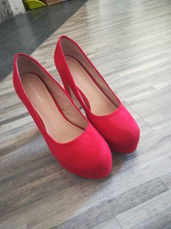 Przepiękne szpileczki czerwone r40