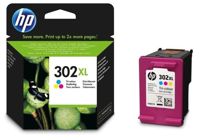 Tinteiro Original HP302XL COR Portes grátis