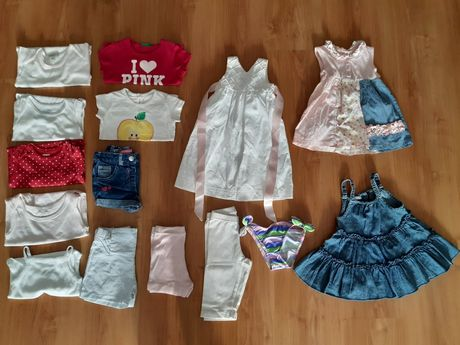 Roupa de bebé menina de 9 a 12 meses (15 peças)
