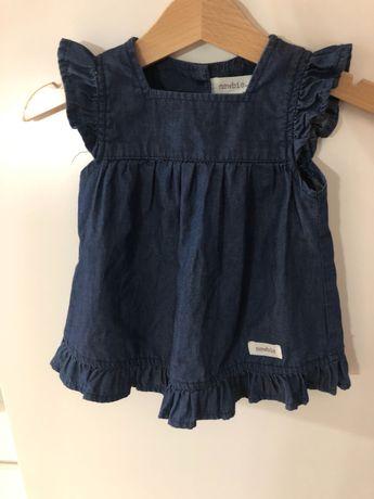 Newbie sukienka jeansowa jeans 68 idealny stan