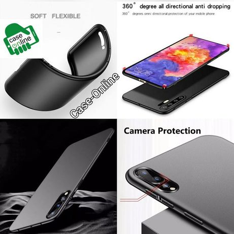 Capa Slim Huawei P30 / P30 Lite / P20 Lite / P20 Pró -Preta
