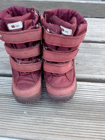 Зимние сапожки для девочки с овчиной
