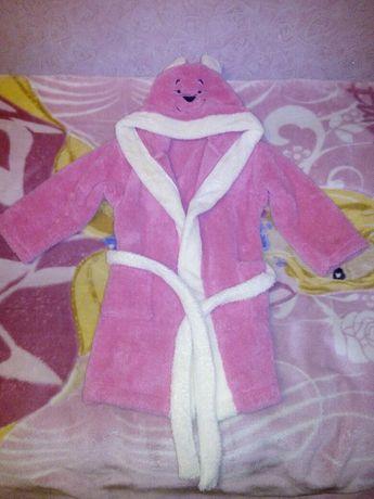 Дитячий халат Angel Kids рожевого кольору.